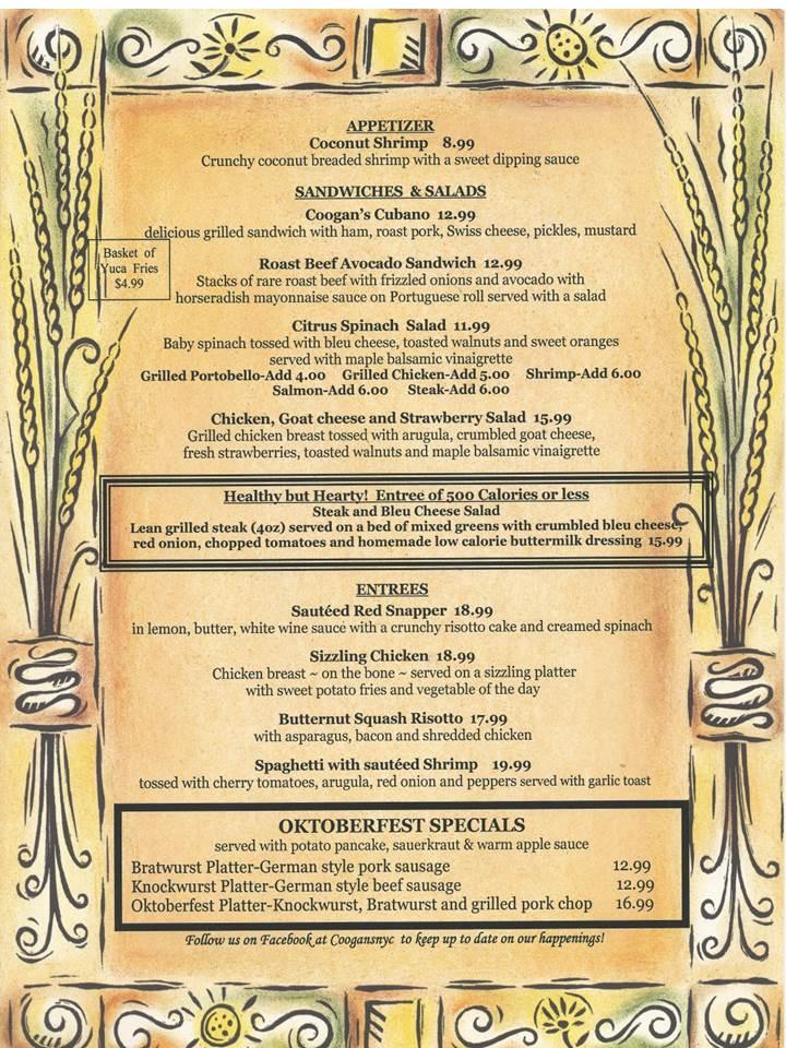 october menu